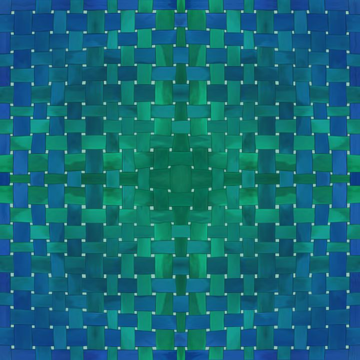 Watercolor blue weave - Molik