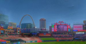 The Arch from Busch Stadium