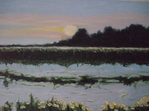 Sunset over the Lake ORIGINAL