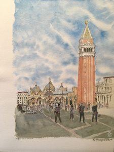 Watercolor Piazza San Marco Venice