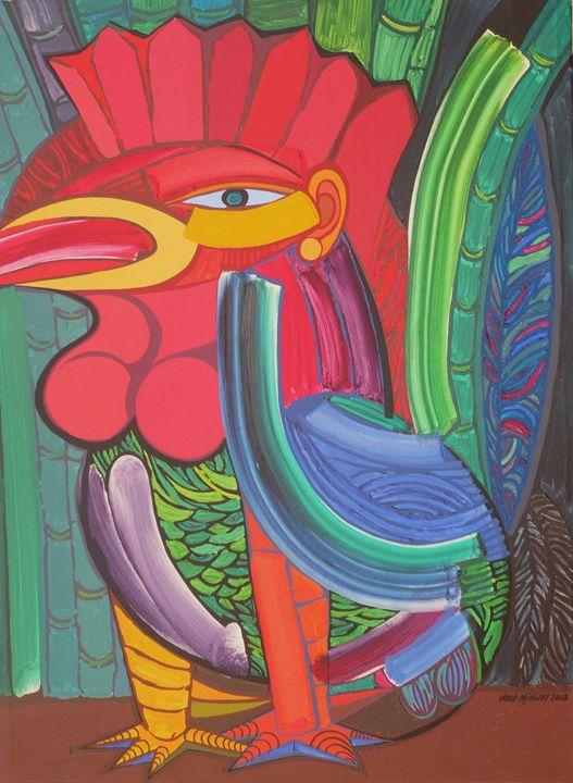 Rooster self-portrait - Jose Miguel Perez Hernandez