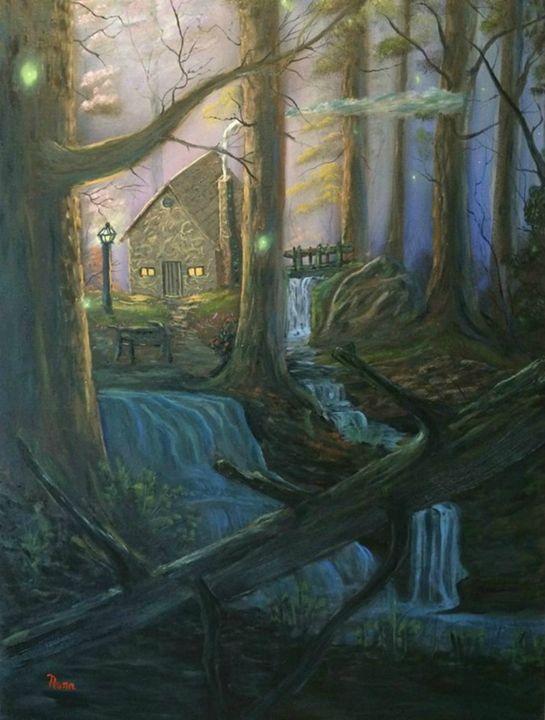 COTTAGE IN THE WOODS - Kevin Nunn's Oil paintings