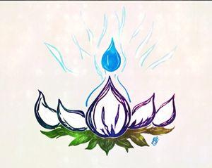 Indigo Lotus Flame
