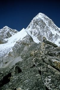 A view from Kala Pattar of Everest
