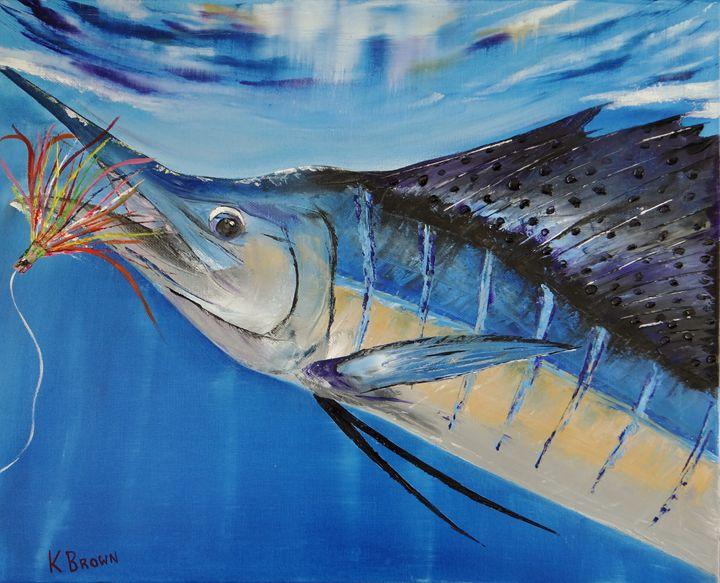 I'm Caught - Ocean Blue Paintings