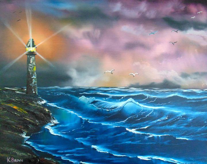 Storms Rolling In - Ocean Blue Paintings