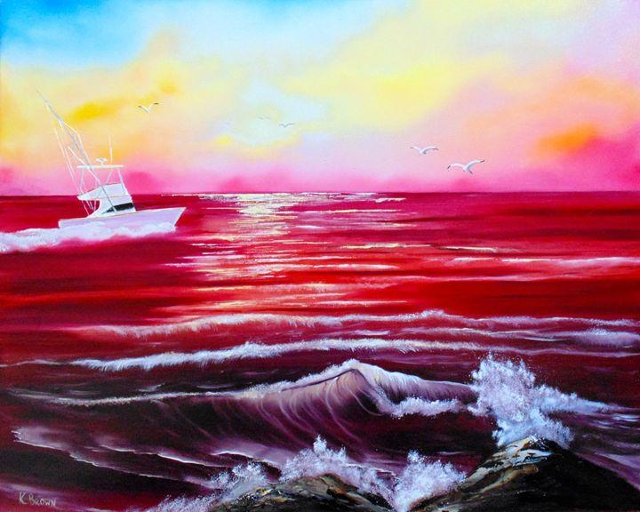 Red Seas - Ocean Blue Paintings