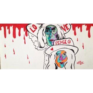 """""""John & Yoko"""" - TheRoseLake Art"""