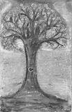 Framed tree signed by Artist