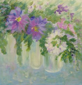 FLOWERS in Violet/White no 2