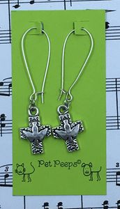 Cross & Dove Dangle Earrings