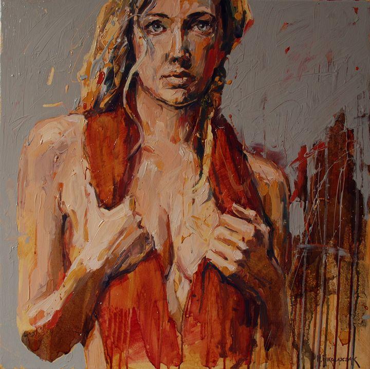 Girl in a red shawl - MikolajczakArt