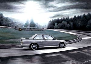 BMW M3 CAR RIDING FAMOUS TRACK