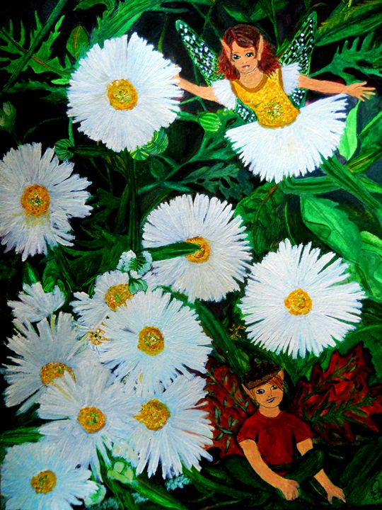 """""""Chamomile."""" - Enchanted Art by Dayna Winters"""