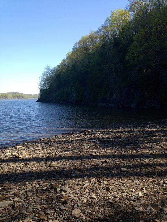 """Hudson River Shoreline - Enchanted Art by Dayna Winters"