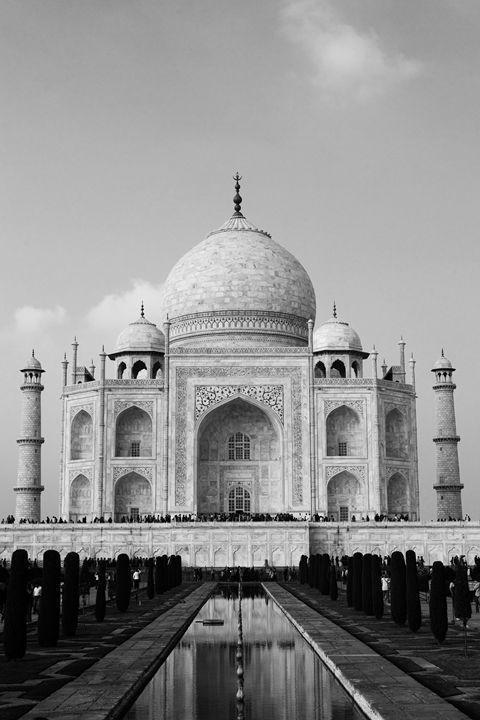 The Taj Mahal in Black and White - ArtByLaurenBritz