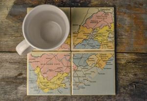 Map of South Africa - 4 set coasters