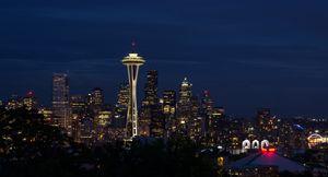 Seattle Night Downtown