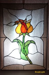 Flower - stained glass