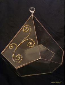 Diamond glass decor