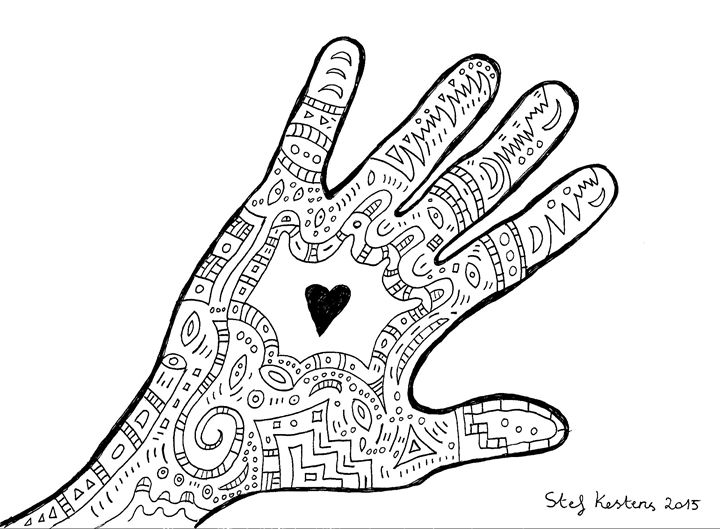 Hand on your heart - Stef Kestens Art Gallery