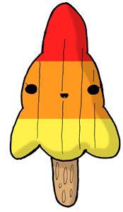 Kawaii Rocket Ice-Lolly