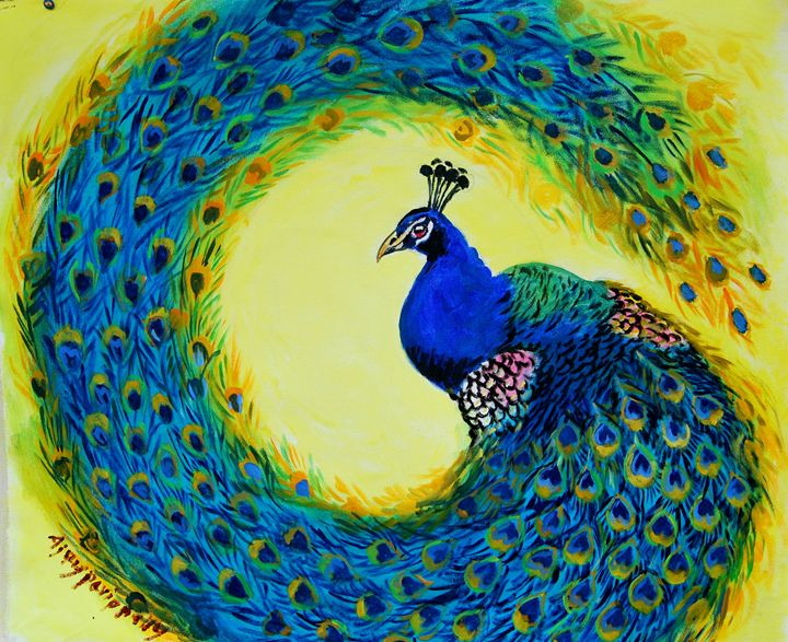 Dancing peacock - Ajayparippally