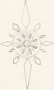 Crystal Compass (Uncolored)