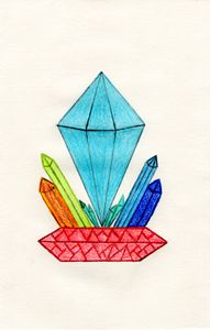 Crystal Formation Pedestal (colored)