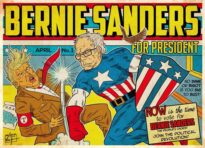Bernie Sanders: The First Avenger - The Art of Twinsvega