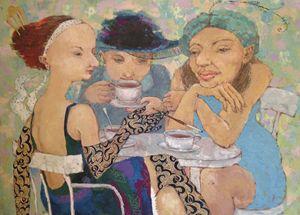 3 Russian Ladies by Elena Kallistova