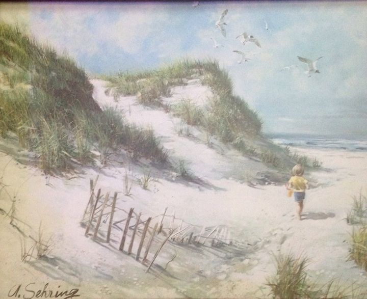 A DAY AT THE BEACH - Aprils Attic of Art