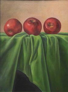 painting apples still life