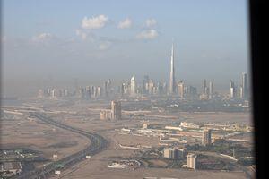 Dubai Down town from al Khahil Rd