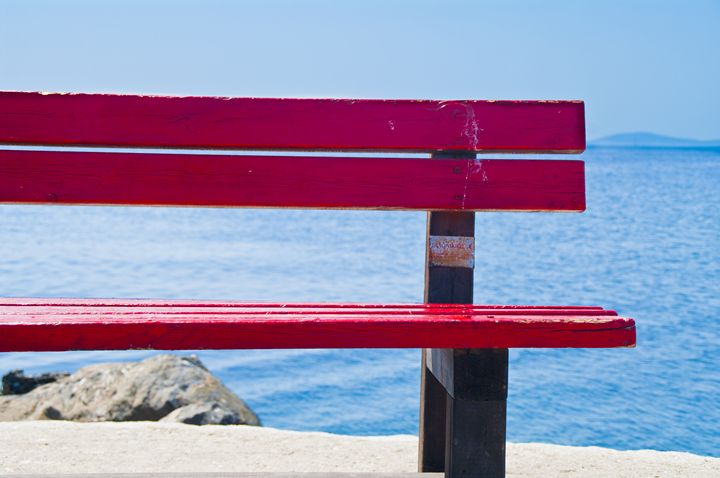 Red bench - Gabor Szabo photography