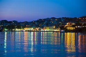 City lights in Neos Marmaras