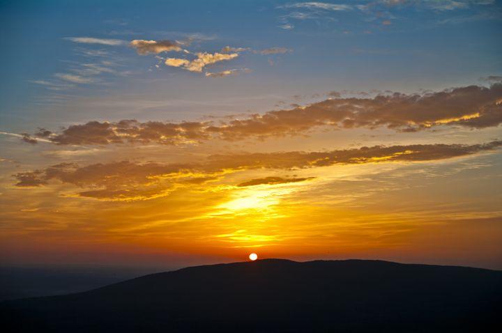 Sun Goes Down Over Mecsek Mountain - Gabor Szabo photography
