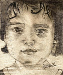 baby at the portrait