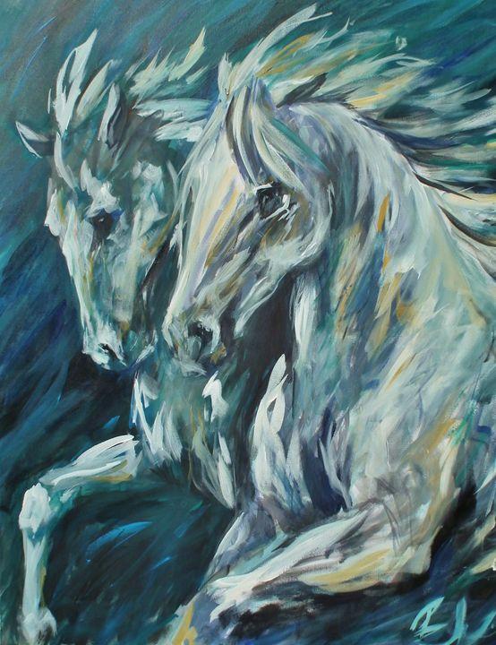 The Race - Bev Wallace Fine Art