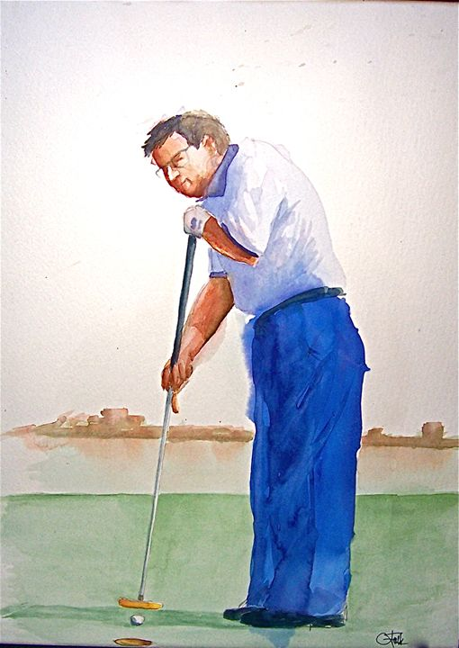 New Putter, Outlawed - Original Watercolor Paintings
