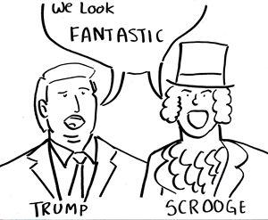 Trump and Scrooge