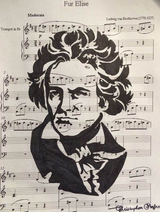Beethoven Tribute - Christopher Stefan's Art Gallery