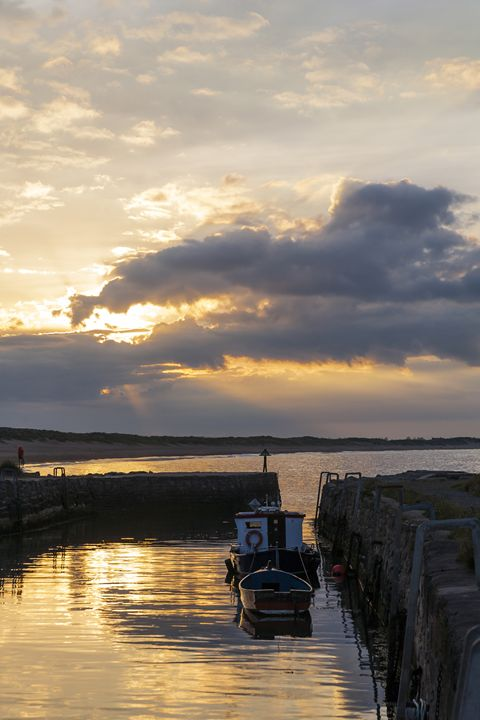 Sunset, Seaton Sluice Harbour. - John Cox Photography and Fine Art