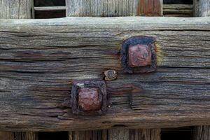 Old wood and metal.