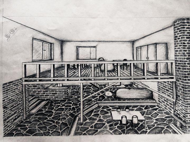 house - my drawings