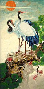 Cranes And Pine