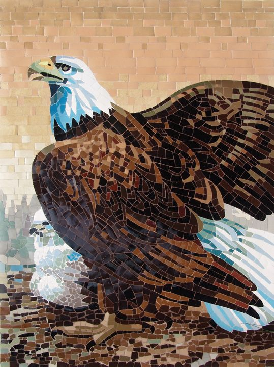 Eagle Mother And Chick - Mai Nhon