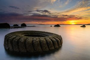 The abandoned giant tyre