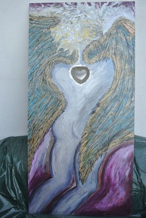 Angel with the stony heart - Art Aeon Leon