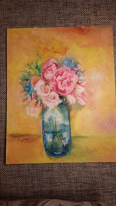 Still life with glass vase - Little art